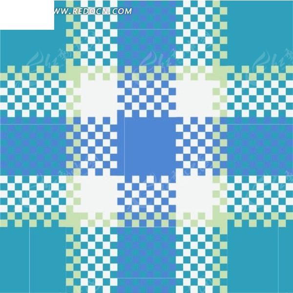 蓝白格子底纹矢量图