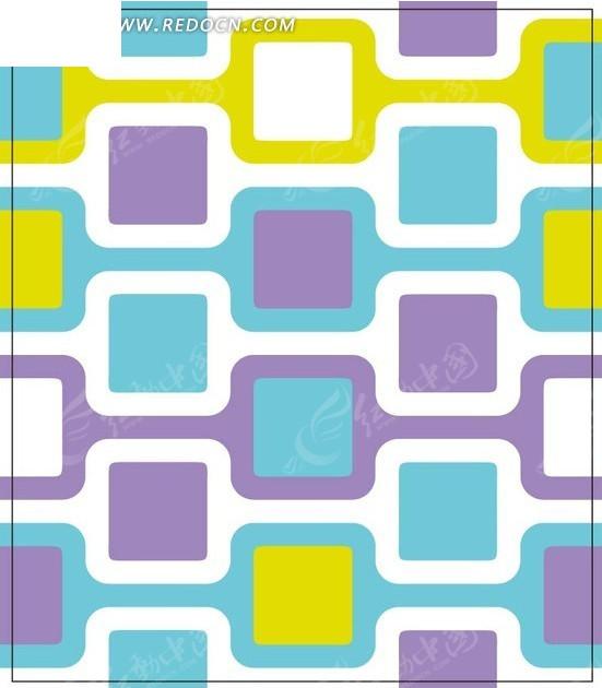 紫色蓝色白色正方形背景素材矢量图