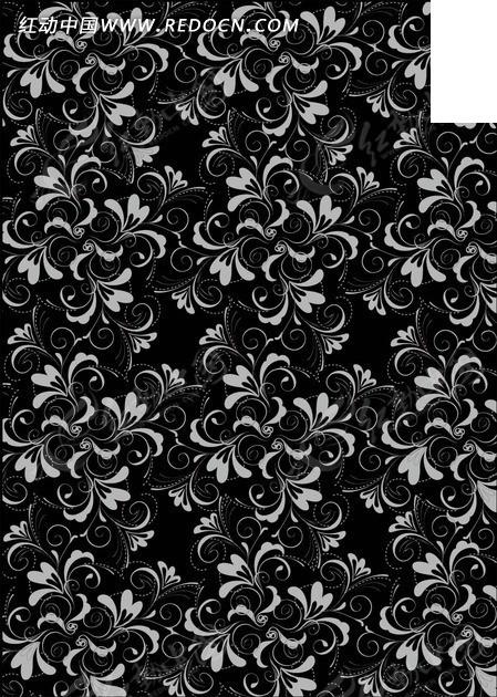 背景上的灰色花纹