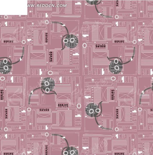 电路板 集成电路 背景图案