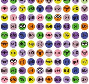 卡通彩色波点的标点符号表情集合
