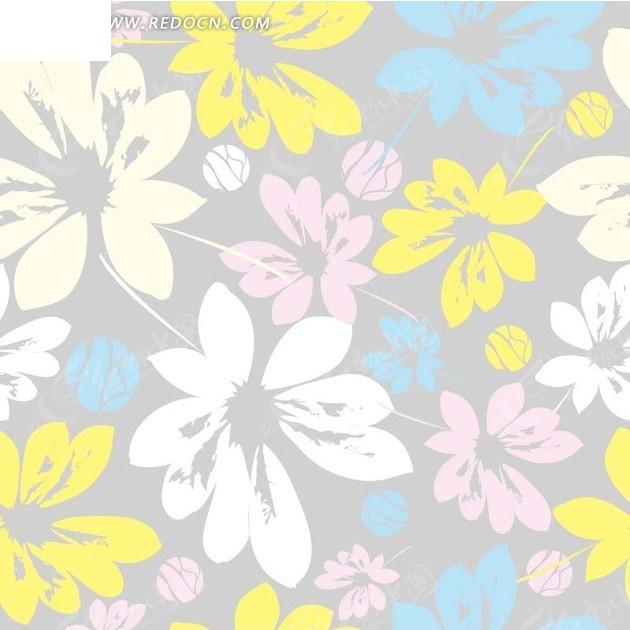 彩色 花朵 花卉 底纹