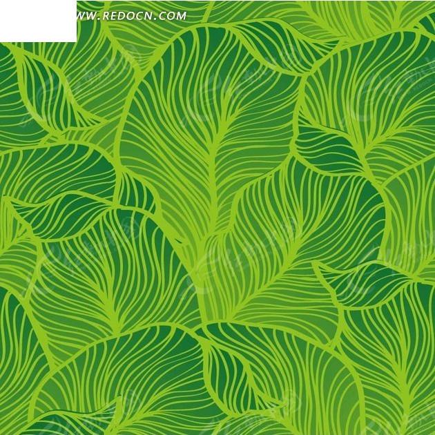 重叠的绿叶构成的图案