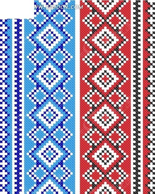 蓝红菱形编织图案图片