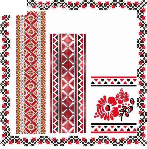 大象波浪线花纹编织图案_底纹背景_红动手机版