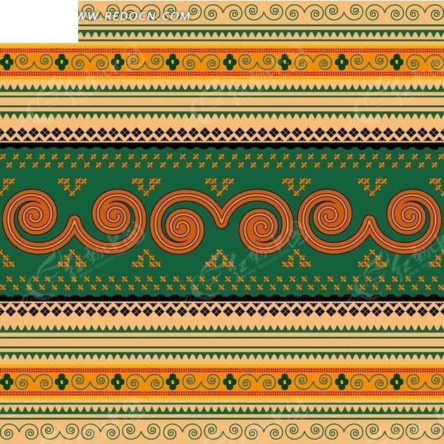 螺旋纹花朵编织图案