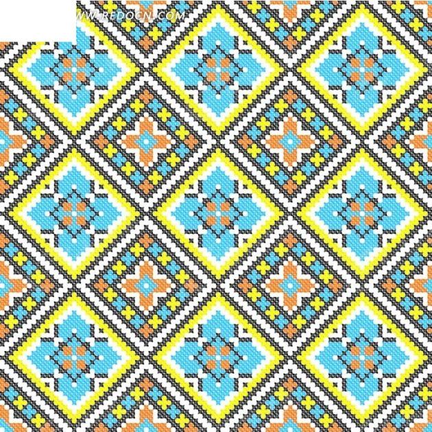 黄蓝菱形编织图案图片