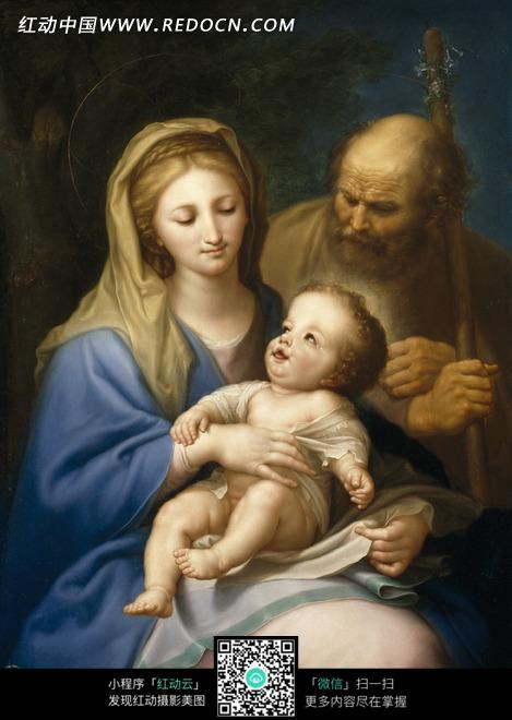 着婴儿的古代欧洲女人图片