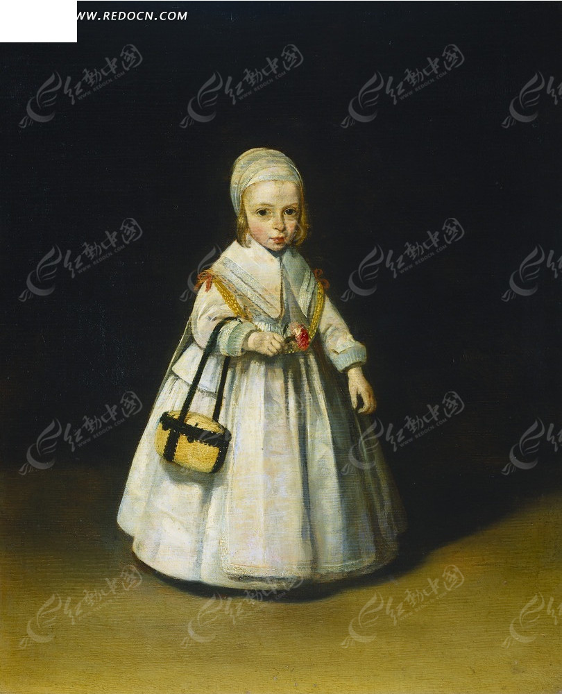绘画 艺术 肖像画 油画 穿裙子的人 古代欧洲女孩 psd素材  psd素材