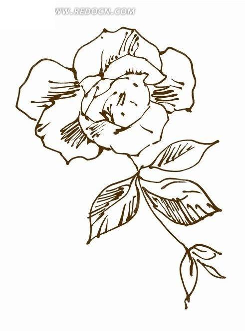 手绘树叶画图片