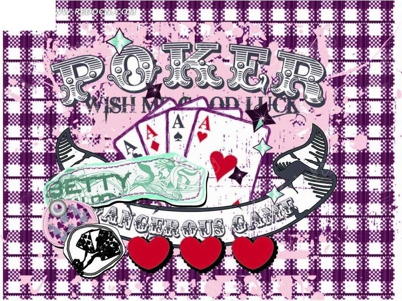 扑克牌 扑克 红心 铃铛 格子  卡通人物 卡通人物图片 漫画人物 人物