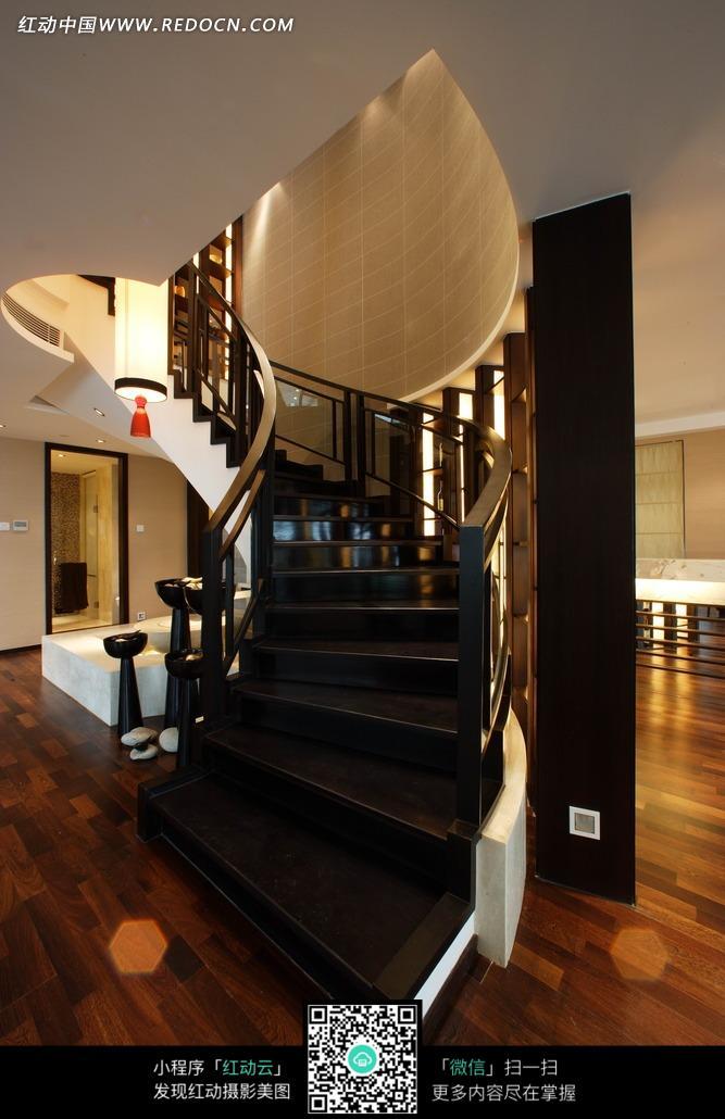 转角楼梯 木地板 中式楼梯 家具 室内设计 家装设计 装饰效果图 装饰