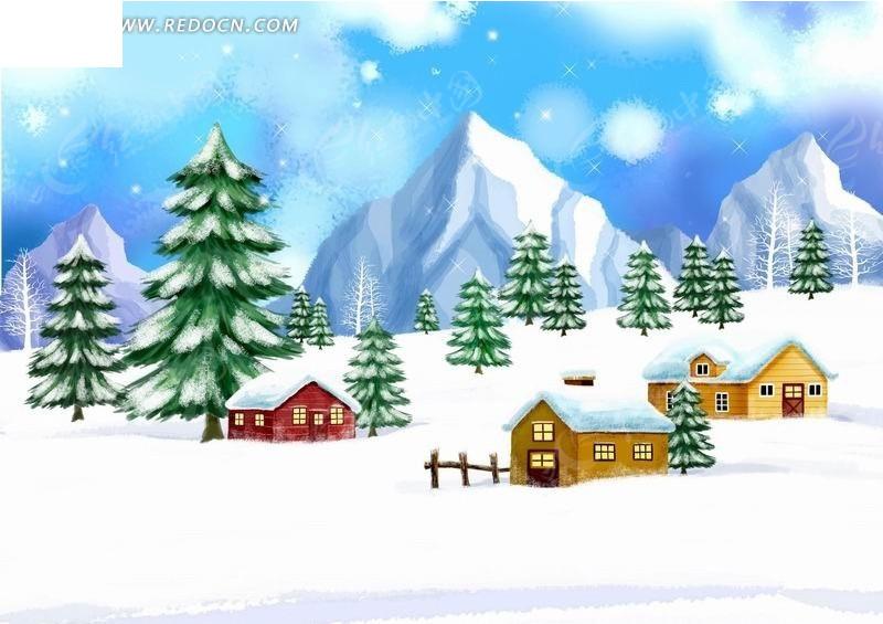 大树和房子简笔画_大树图片简笔画