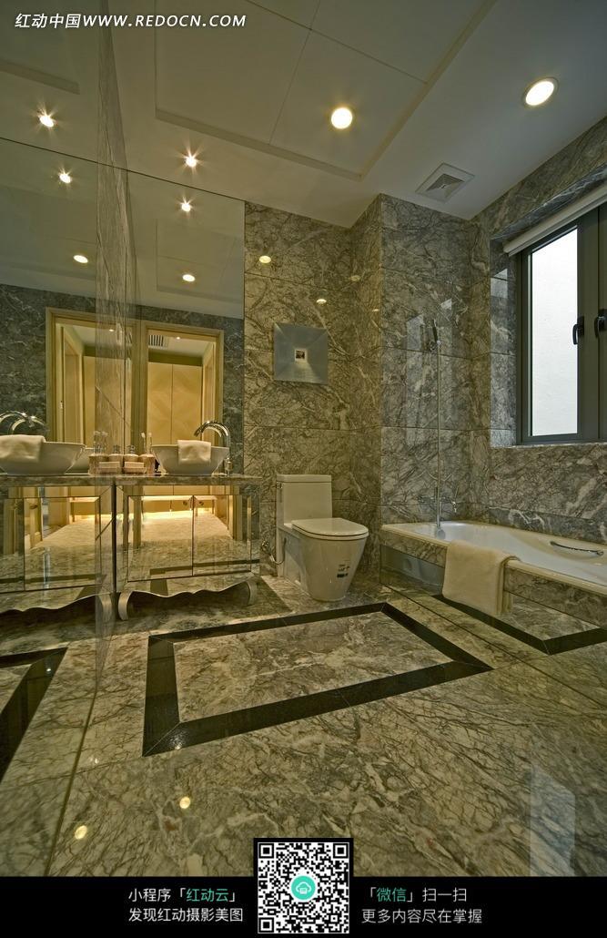 洗手盆 镜子 马桶 大理石 室内装饰 室内设计 装饰设计 装饰