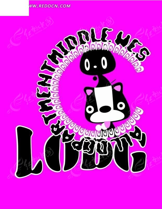小狗 动物 黑白小狗 圆圈 卡通动物  卡通人物 卡通人物图片 漫画人物