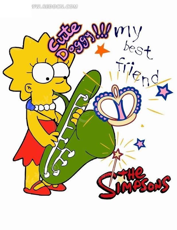 吹萨克斯的女士矢量图 卡通形象