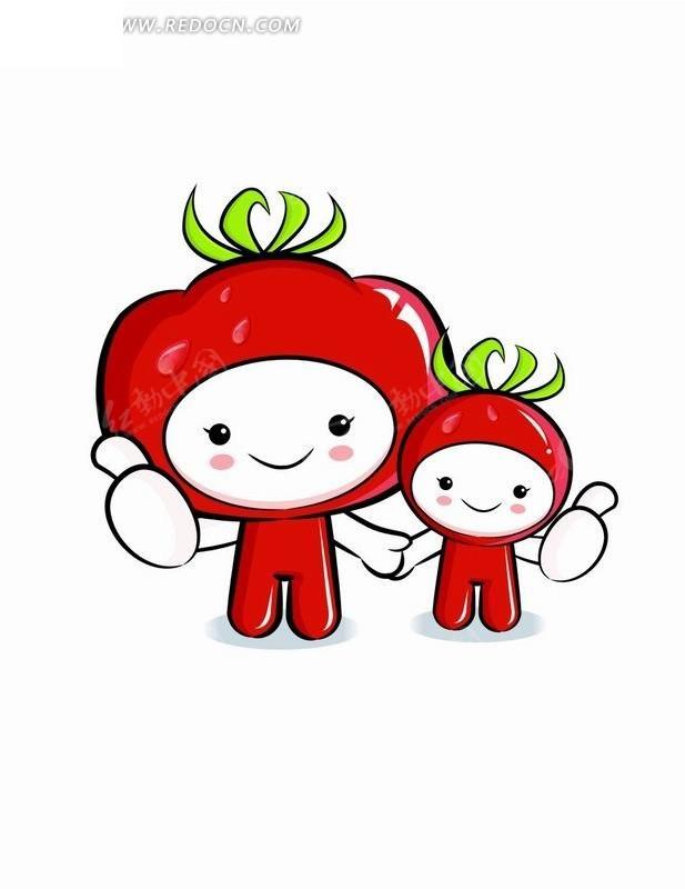 水果造型的卡通人物_卡通形象_红动手机版