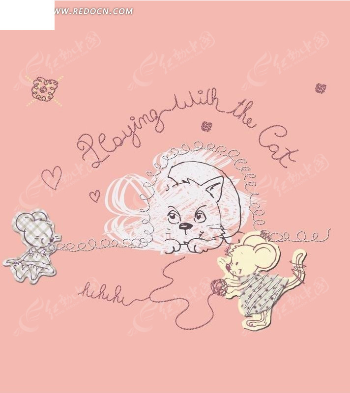 老鼠和猫卡通画