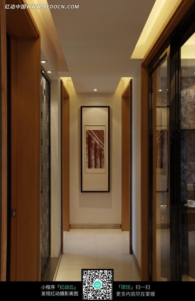 装饰画 走廊 长廊 装饰设计 室内设计  装饰效果图 摄影图片