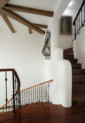 铁加玻璃楼梯扶手