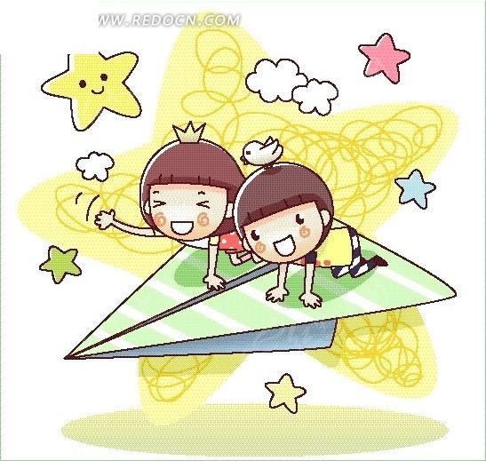 卡通男孩女孩画(7)