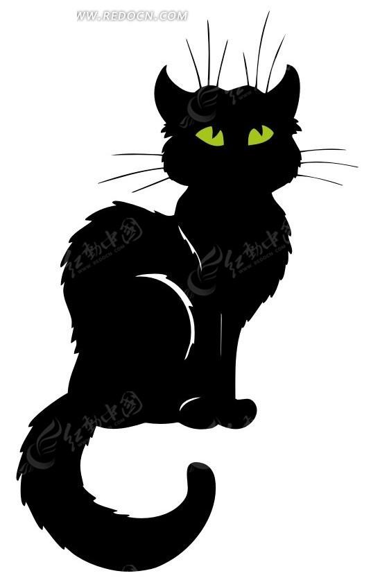 卡通黑色小猫咪