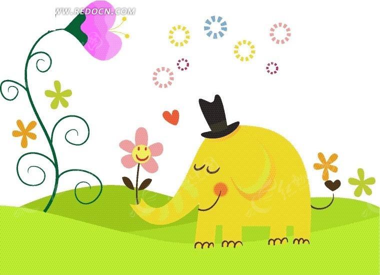 彩纸大象手工制作图片