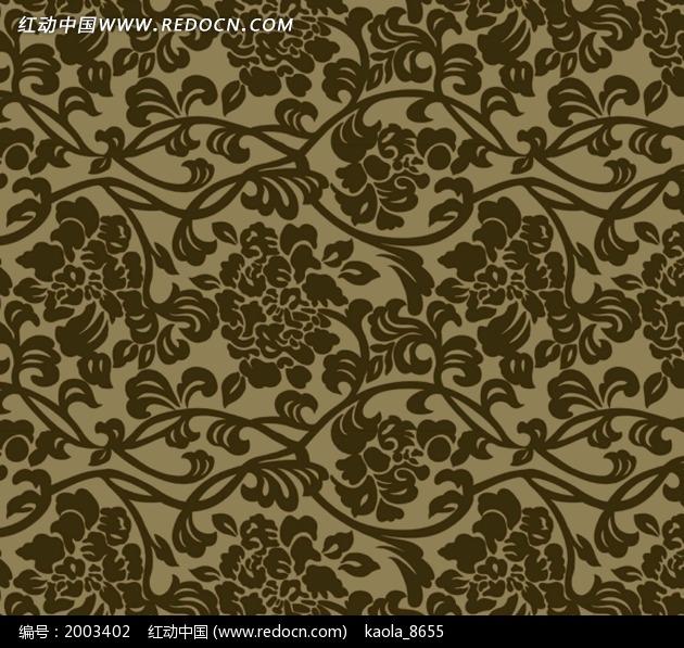 古典藤蔓底纹图片