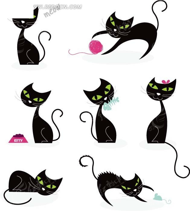 Cute Cartoon Cat Background