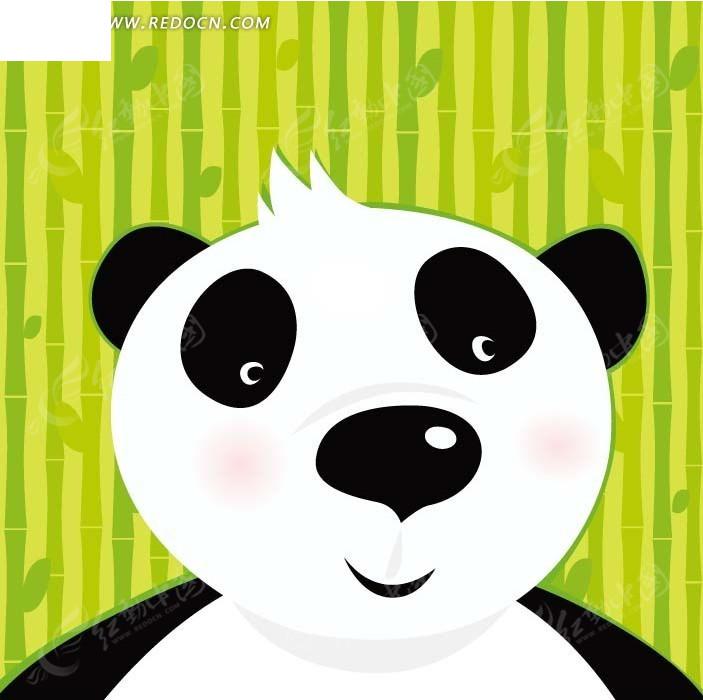 卡通插画——可爱的大熊猫