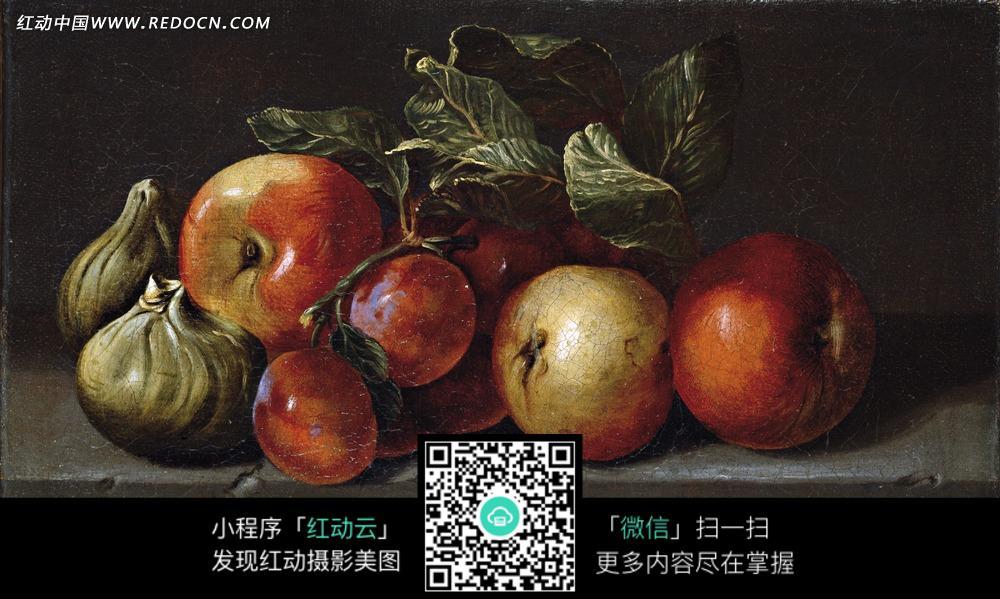 洋葱 红苹果 水果 蔬菜 油画 绘画  绘画作品  西方艺术 书画