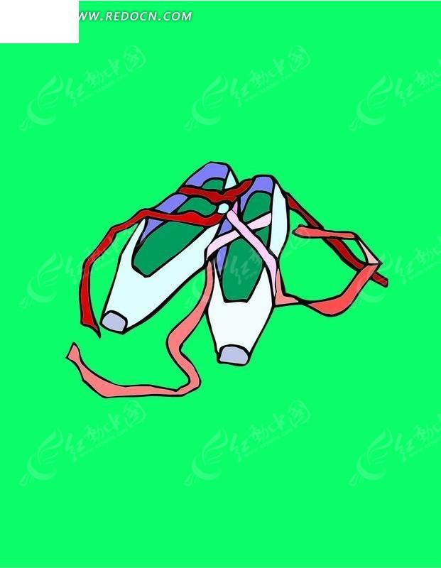 芭蕾舞 舞鞋 鞋子 舞蹈  卡通人物 卡通人物图片 漫画人物 人物素材