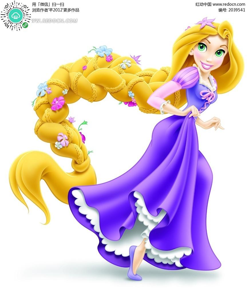 迪士尼卡通人物---- 长发公主