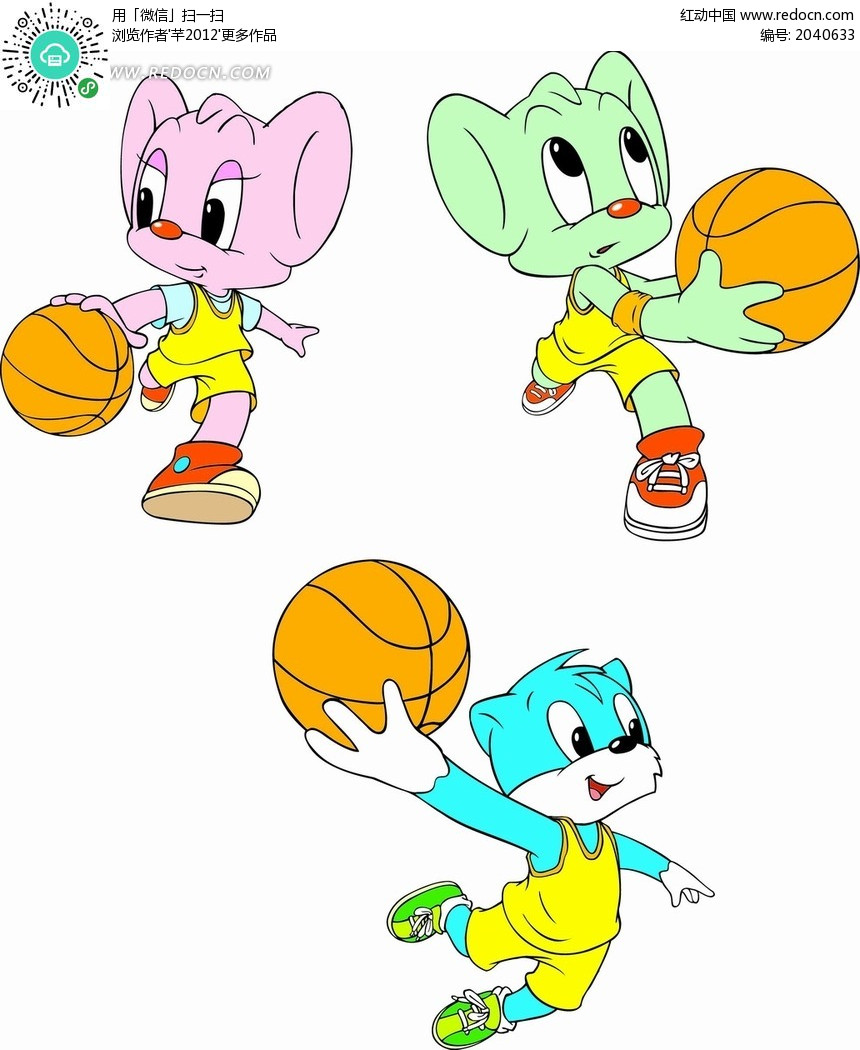 篮球简单漫画图片卡通蓝猫插画打蓝球的蓝猫矢量图_卡通形象黑子