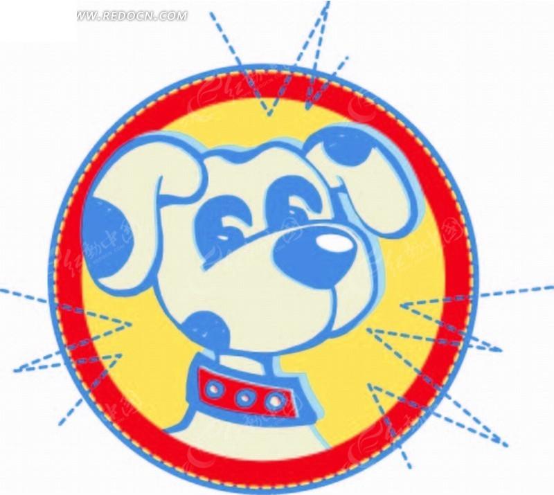 圆形 小狗 图形标识