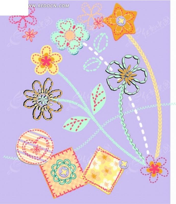 花卉 植物 卡通画