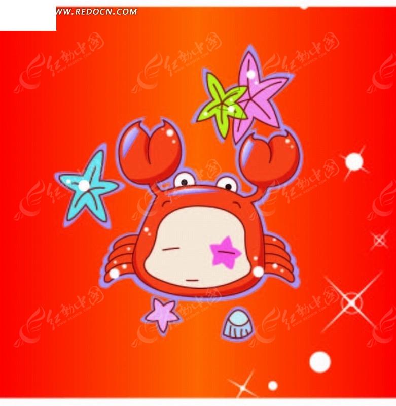 星座卡通巨蟹座双鱼座女匹配图片