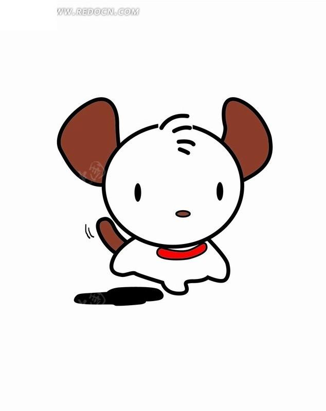 卡通画—奔跑的狗
