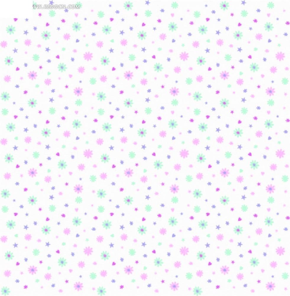和粉色蓝色花朵底纹