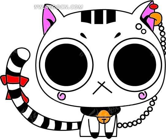 卡通动物插画-可爱的猫矢量图