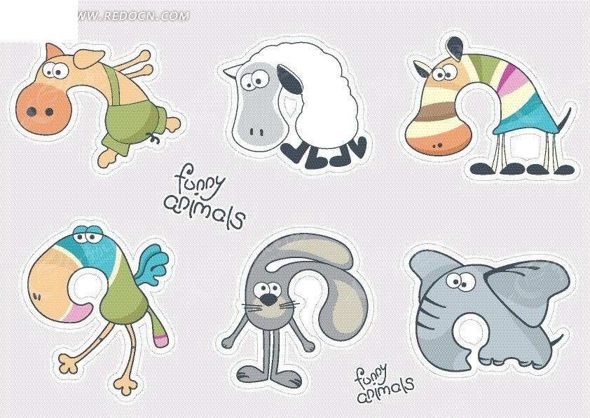 卡通动物 绵羊