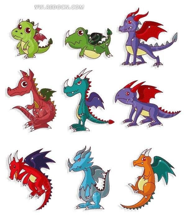 卡通恐龙合集