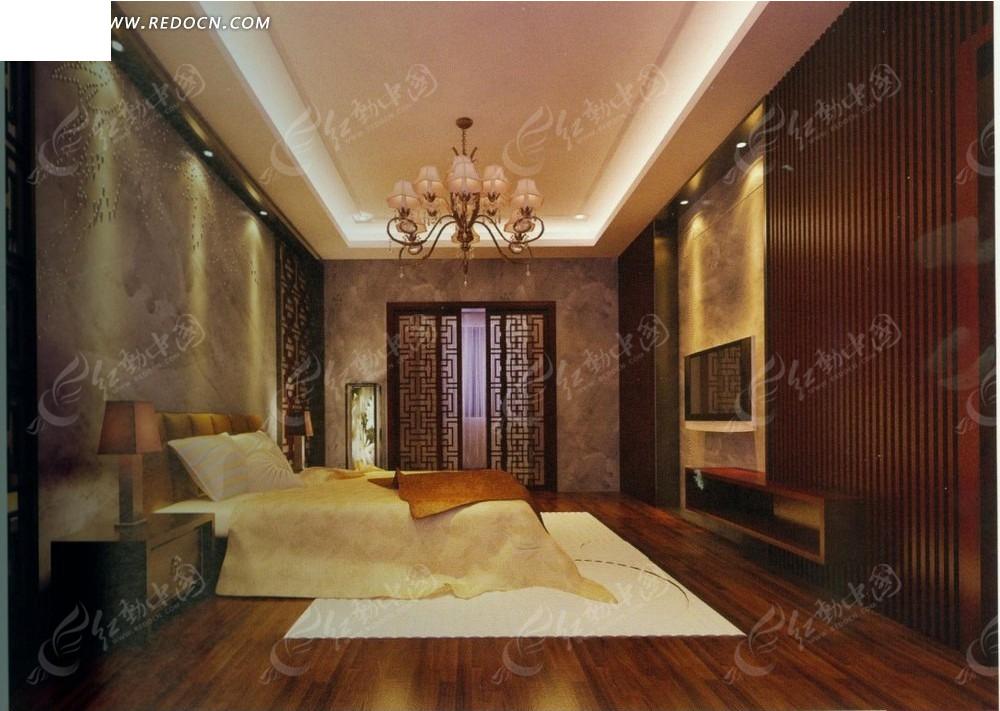 欧式低调奢华卧室效果图