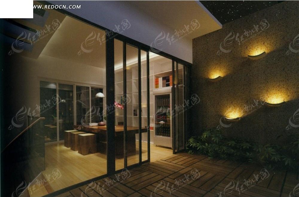 室内设计效果图--朦胧夜色下的古典小阁楼