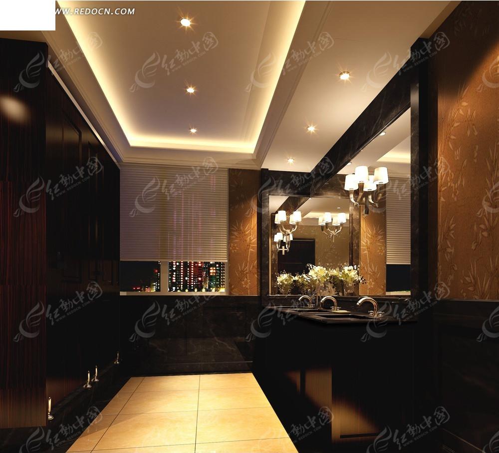 金色宾馆卫生间效果图高清图片