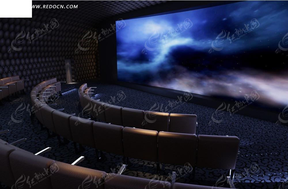 现代时尚电影院效果图