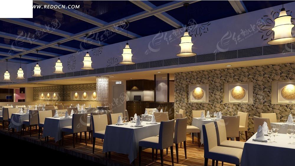 欧式西餐厅效果图