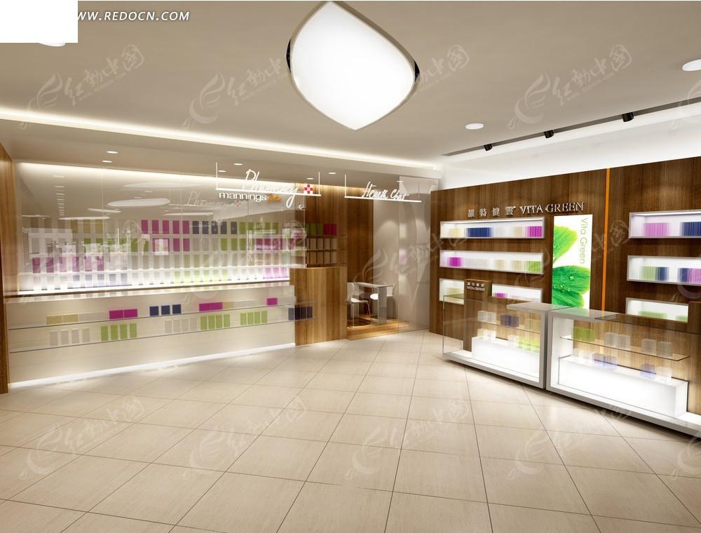 大厦化妆品店展厅效果图图片