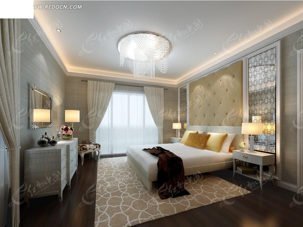 现代都市雅致卧室效果图