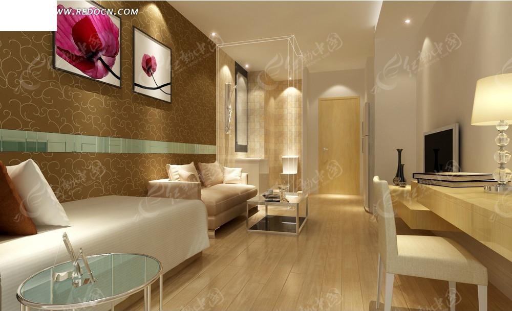 现代时尚单身公寓效果图